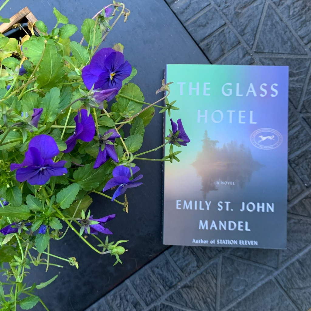 The Glass Hotel book and flowers