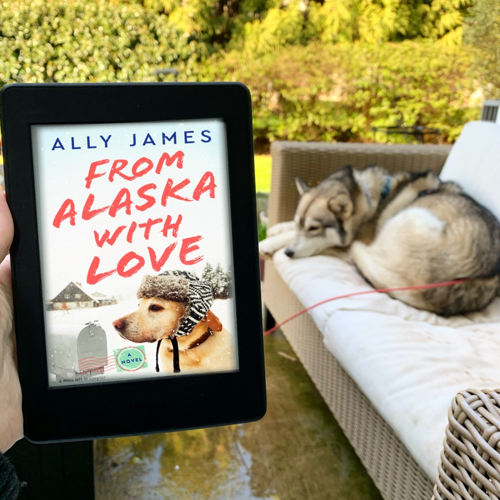 From Alaska With Love by Ally James on Kindle with husky in the background