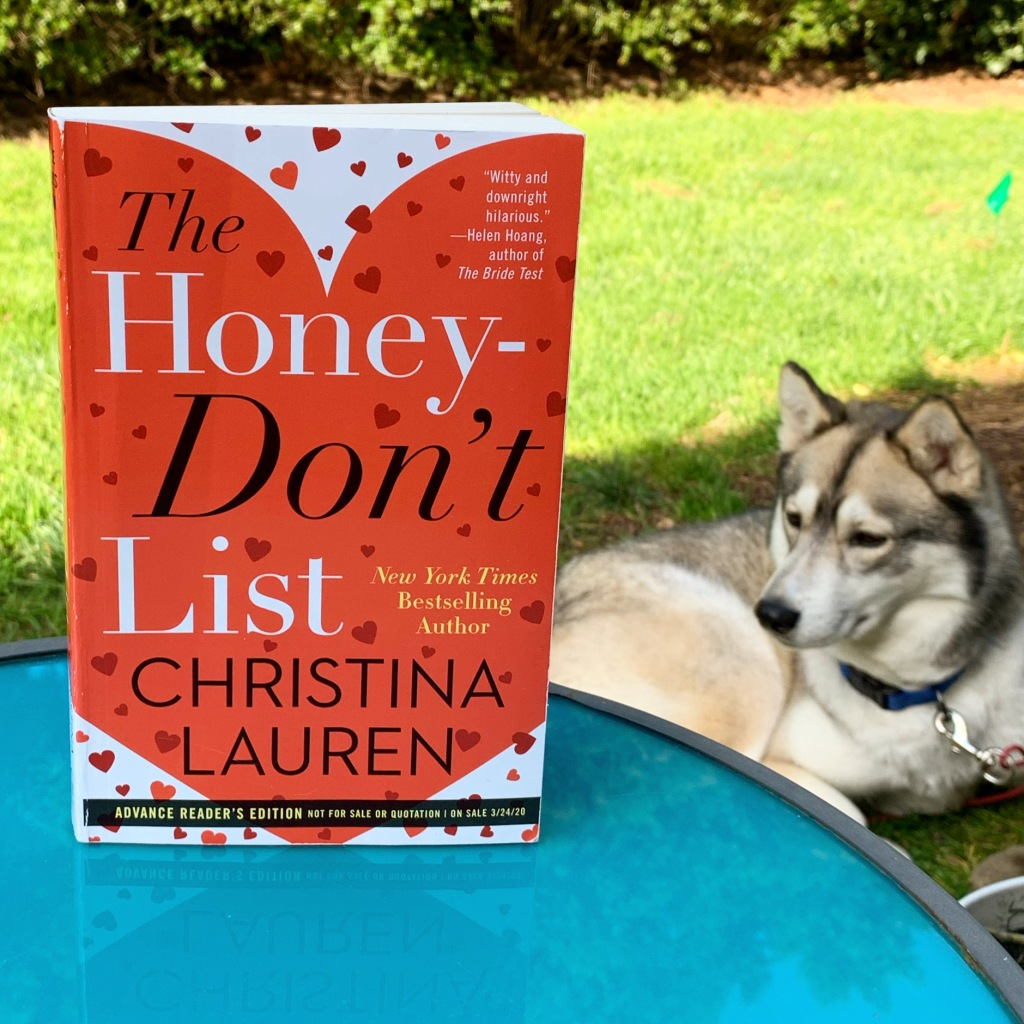 The Honey-Don't List by Christina Lauren book with husky