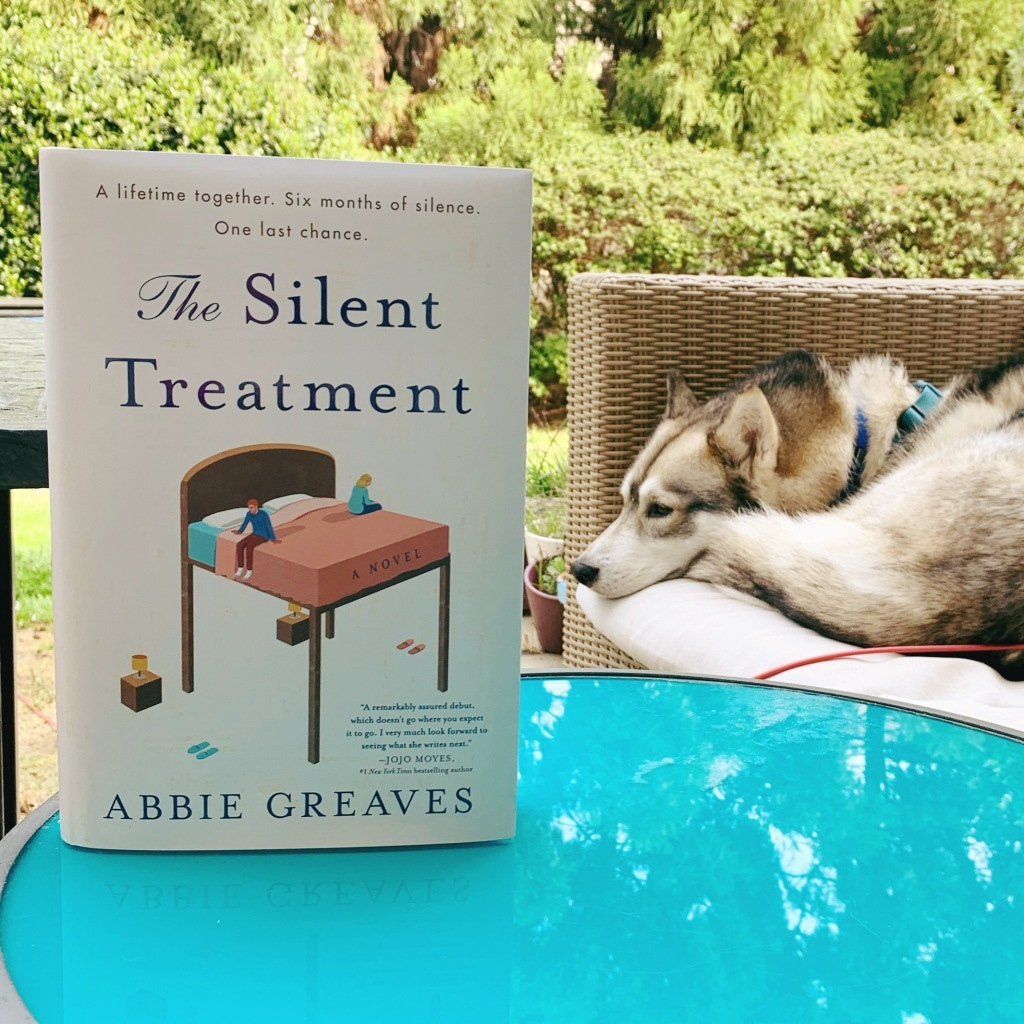 The Silent Treatment by Abbie Greaves hardcover with husky