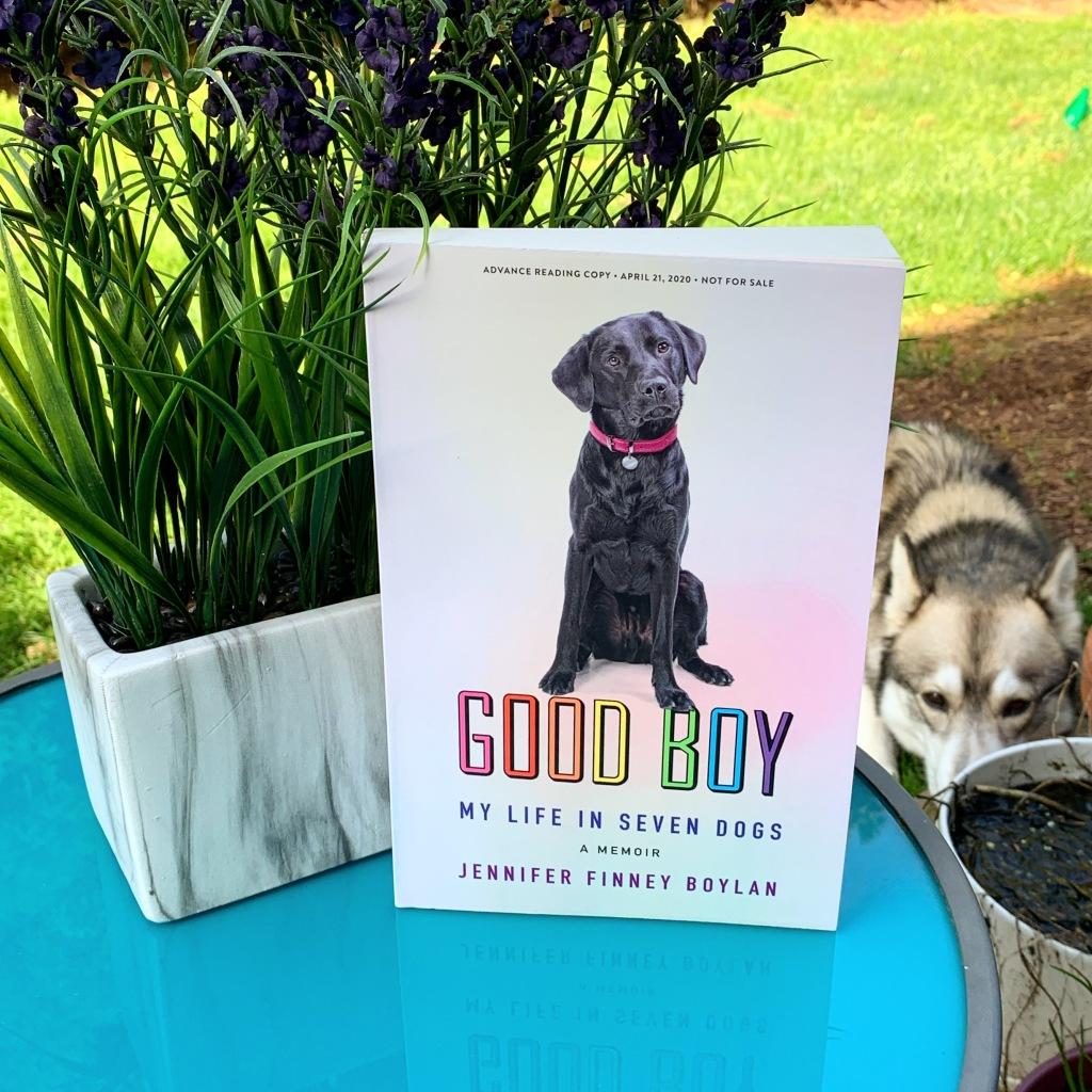 Good Boy by Jennifer Finney Boylan book with flowers and husky