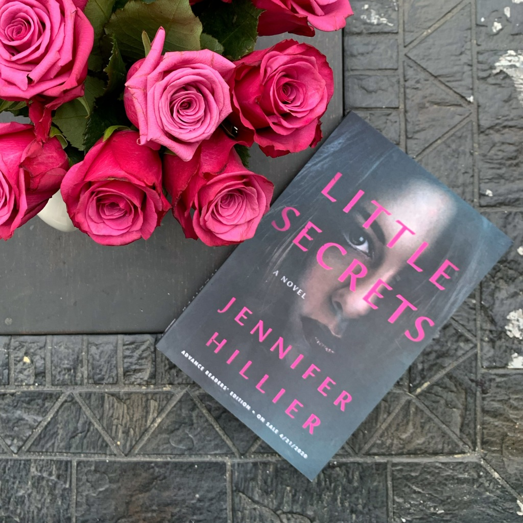Little Secrets by Jennifer Hillier book with roses