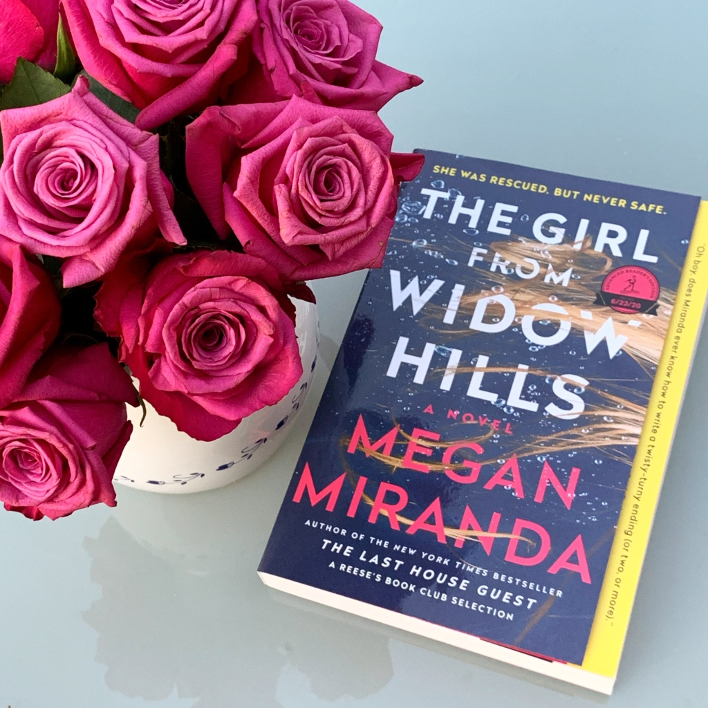 The Girl From Widow Hills book with roses