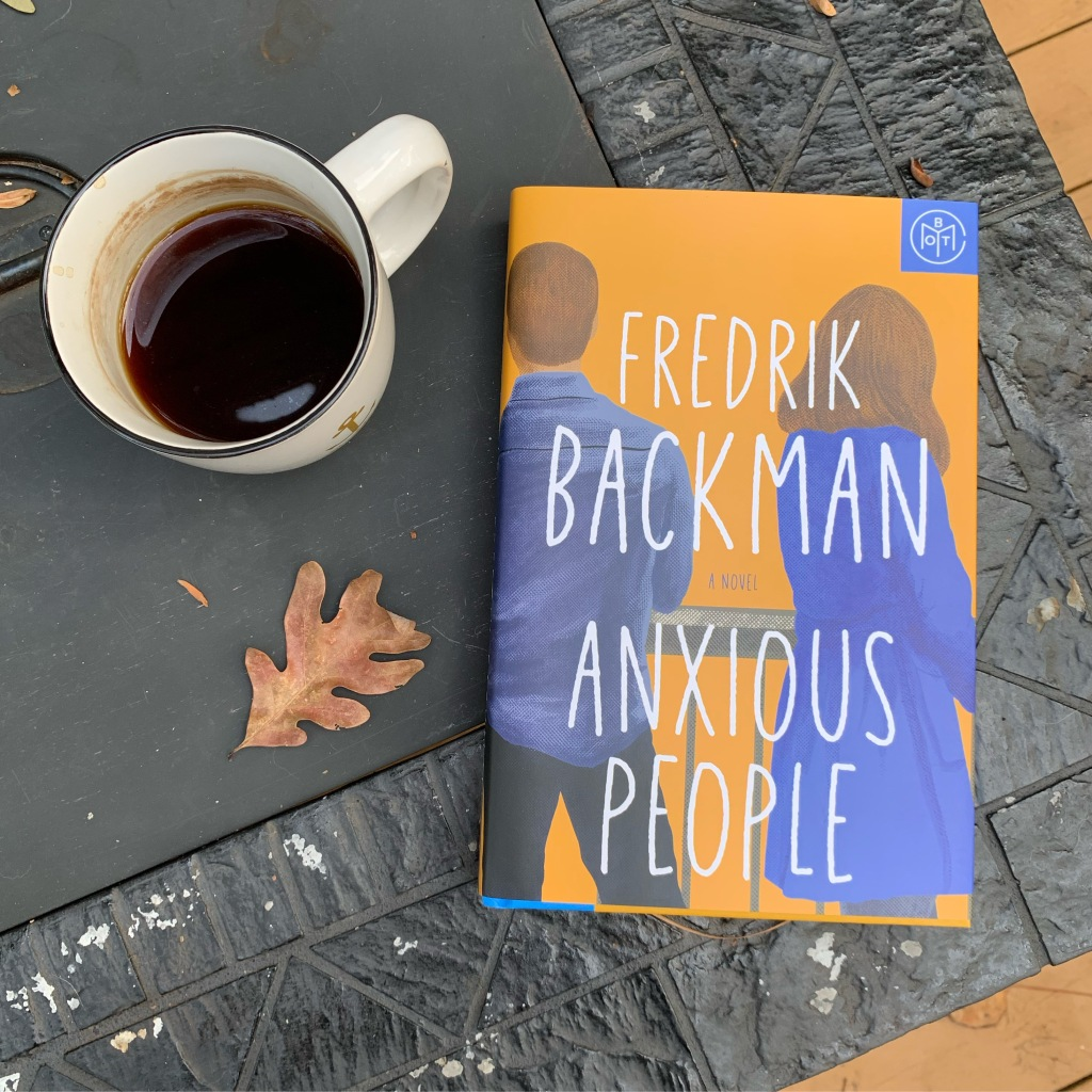 Anxious People book of the month edition hardcover by Fredrik Bachman