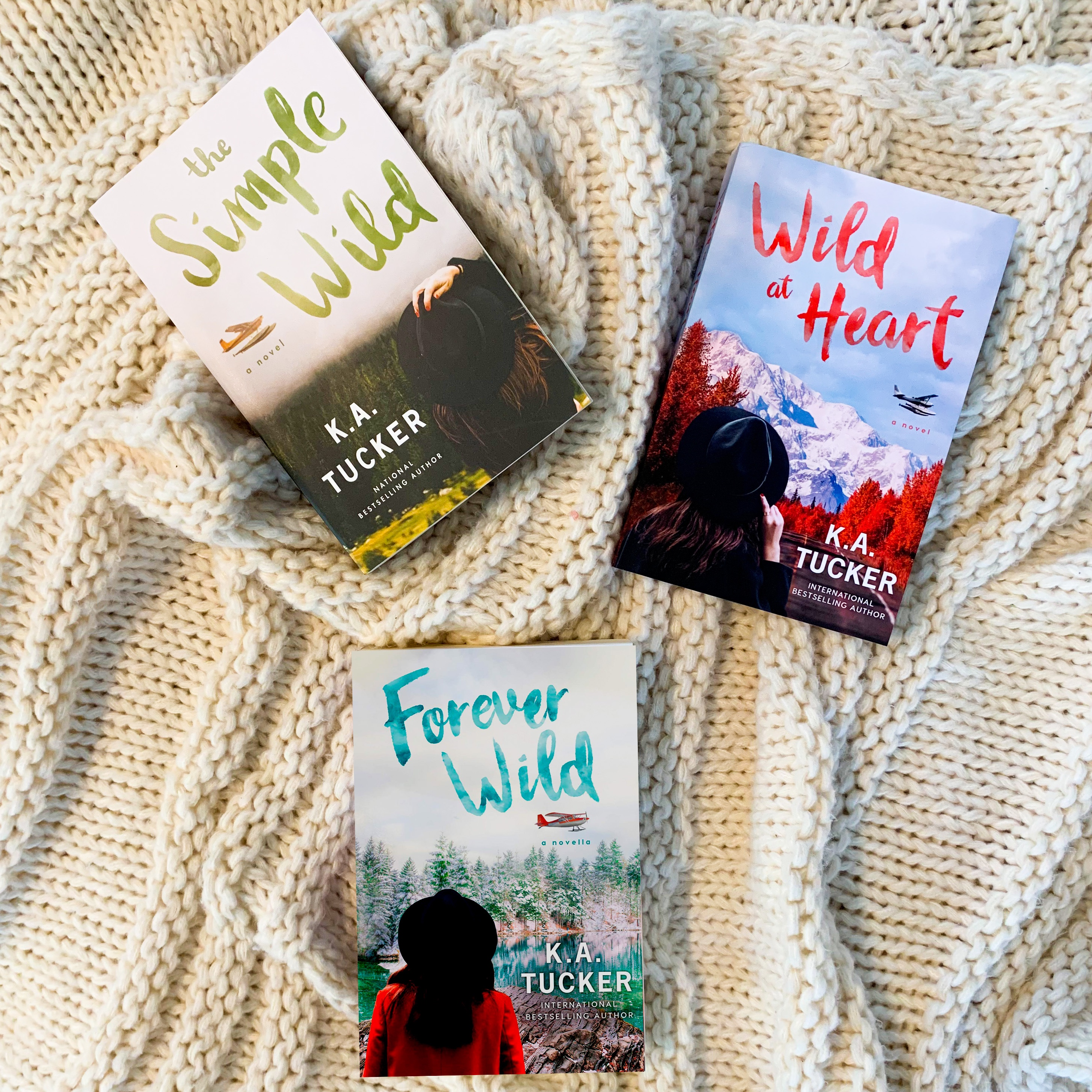 The Simple Wild, Wild At Heart, and Forever Wild paperbacks