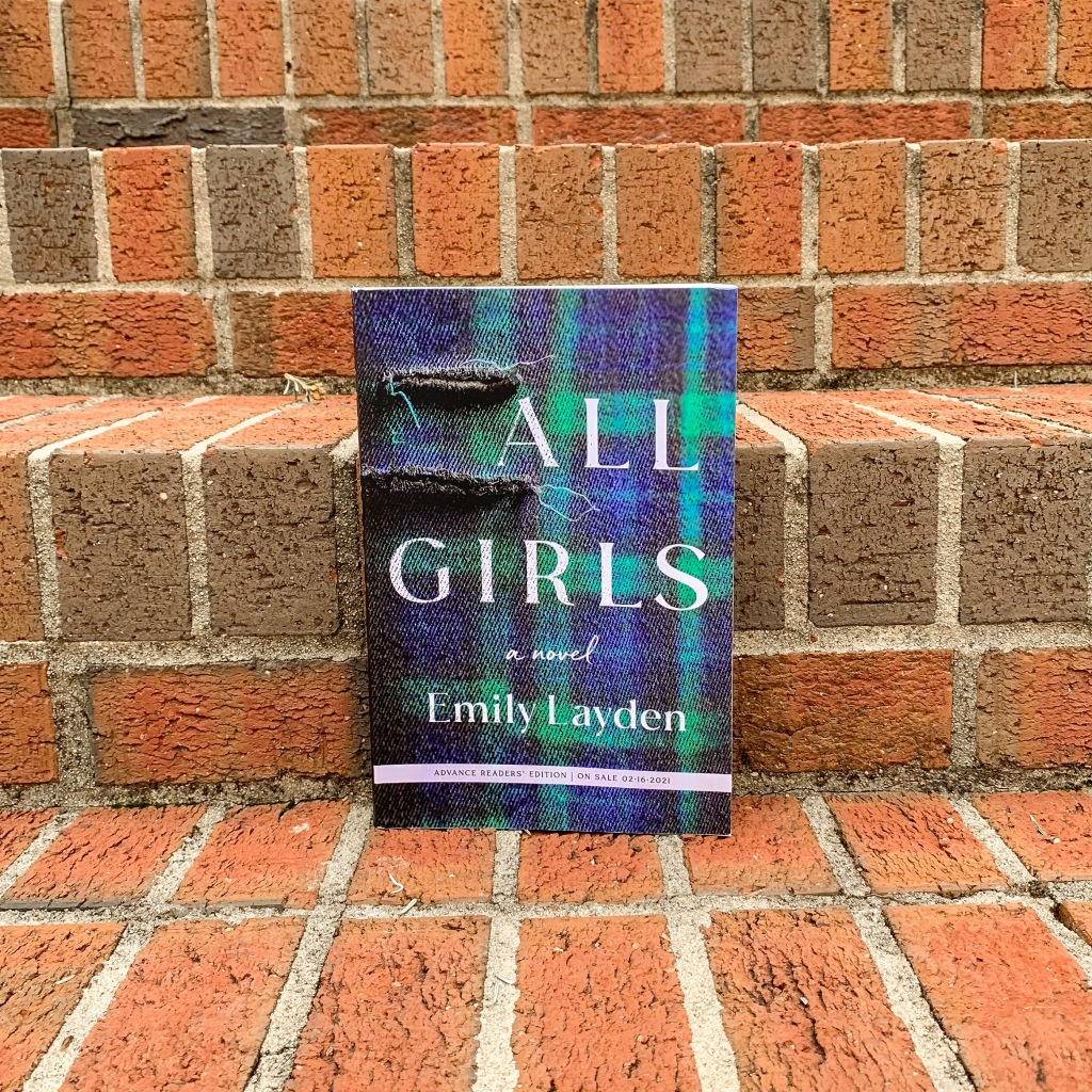 Photo of All Girls by Emily Layden paperback ARC copy of book