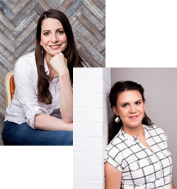 Headshots of author Ashleigh Harvey and Talia Rothschild