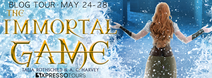 The Immortal Game XPresso Tours banner for the blog tour May 24-28
