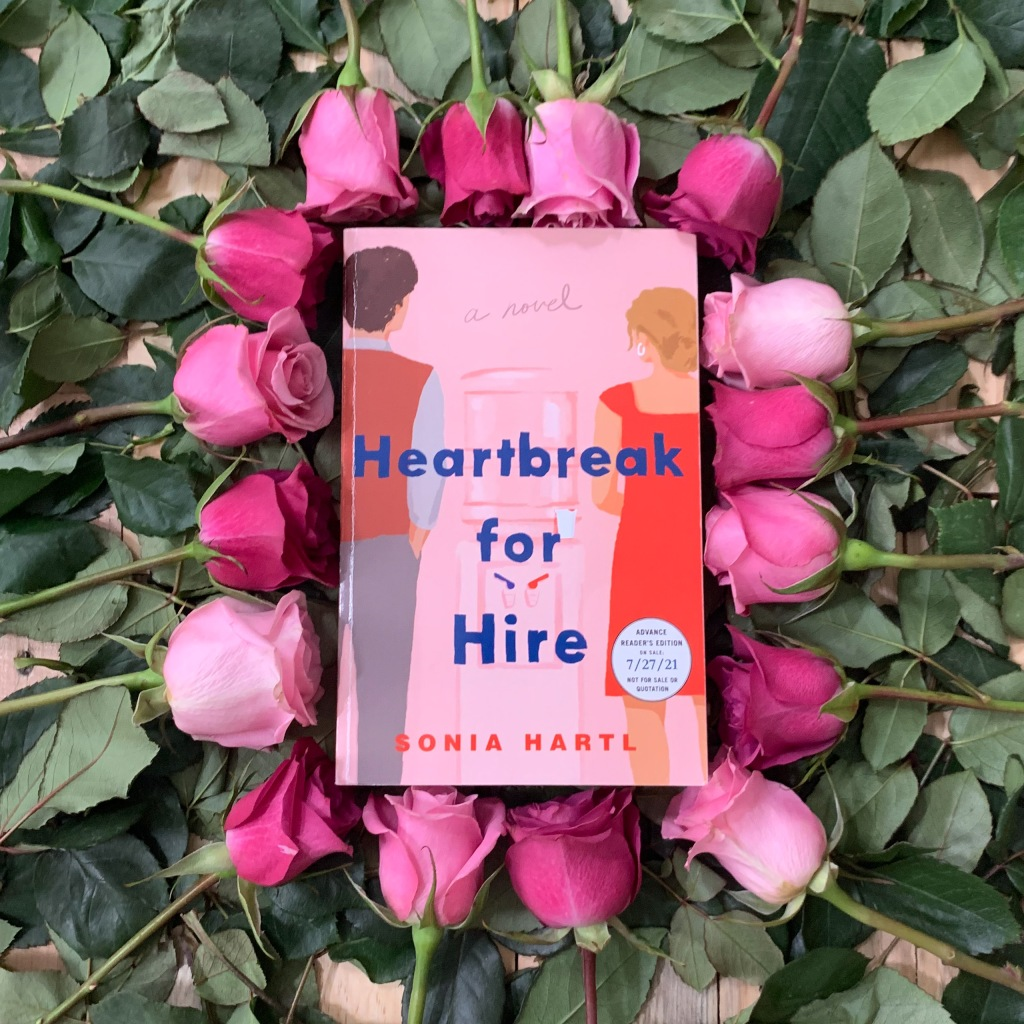 Photo of Sonia Hartl's Heartbreak for Hire, ARC paperback copy