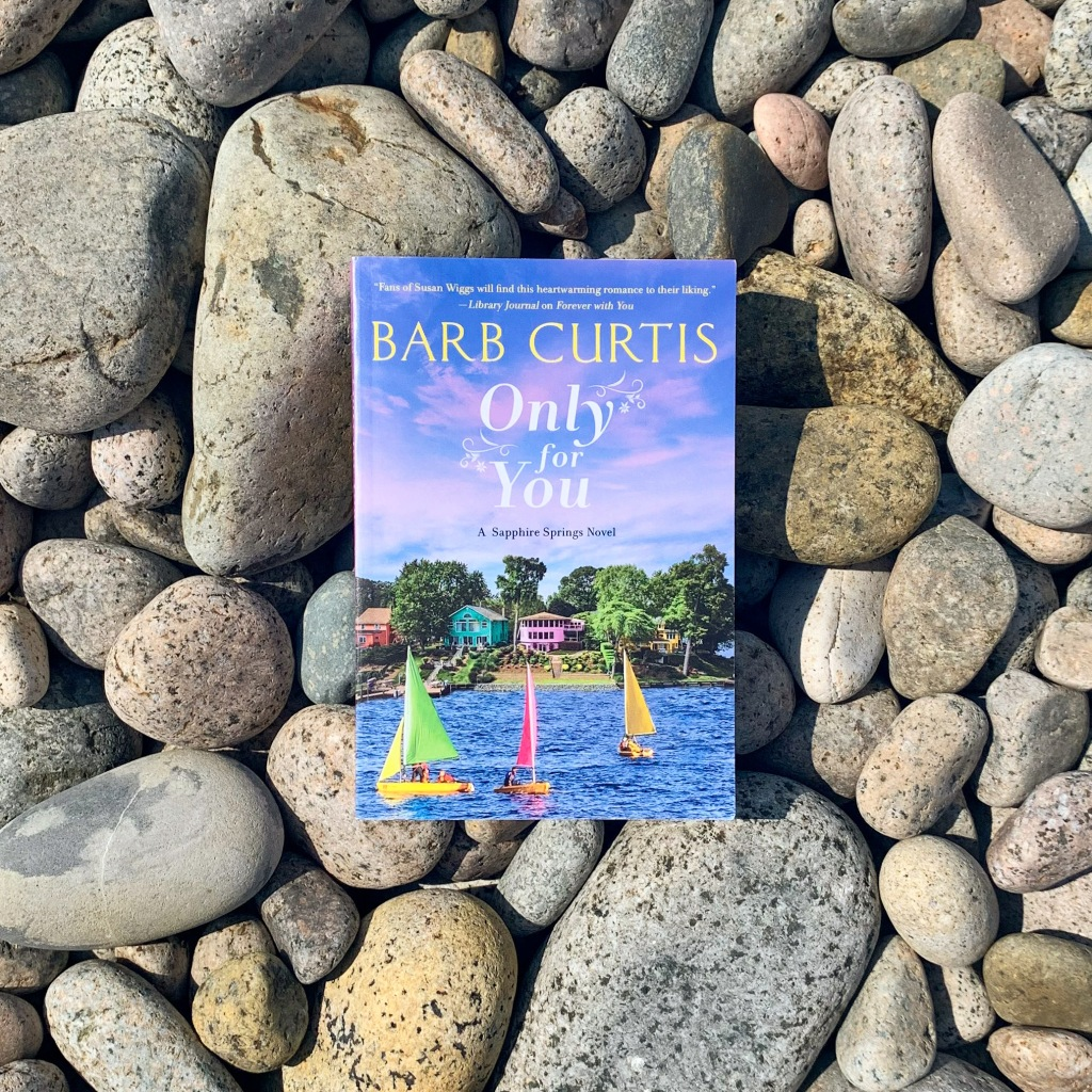 Photo of Barb Curtis's Only For You paperback book with rocks