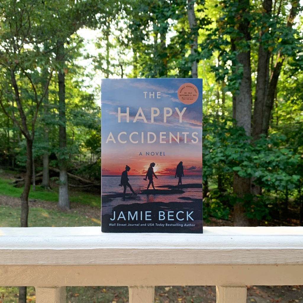 Photo of Jamie Beck's The Happy Accidents paperback ARC copy