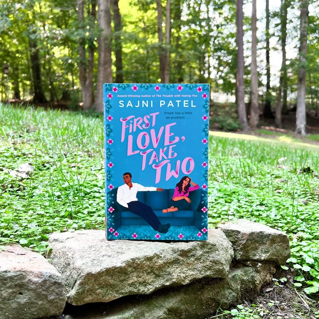 Paperback copy of Sajni Patel's new book First Love, Take Two